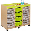 Bubblegum 24 Shallow Tray Storage Unit