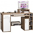 Alaska Computer Desk Oak/White