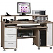 Seaton Computer Desk Oak/White