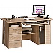 Brisbane Computer Desk Oak