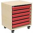 6 Tray Mobile Art & Paper Storage Unit