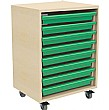 8 Tray Mobile Art & Paper Storage Unit