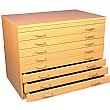 8 Drawer Beech A1 Plan Storage Chest