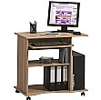 Centro Mobile Computer Desk Oak