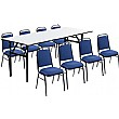 6ft Rectangular Soft Top Table & 8 Mayfair Chairs