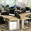 Elite Kassini Contract Curved 120 Degree Desk Scre