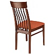 Vienna Upholstered Wooden Dining Chair - Rear