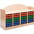 Stretton 24 Tray Quad Bay Storage Unit