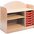 Stretton 6 Shallow Tray Storage Unit With Adjustable Shelf