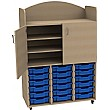 Stretton 18 Shallow Tray Triple Bay Storage Unit & Cupboard