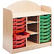 Stretton 16 Tray Storage Unit With Adjustable Shelves