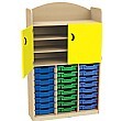 Stretton 24 Tray Triple Bay Storage Unit With Cupboard