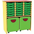 Funky 18 Tray Storage Unit With Docking Space