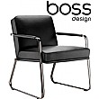 Boss Design Optima Armchair With Sled Base