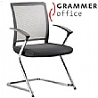 Grammer Office SAIL Fabric & Mesh Cantilever Conference Chair