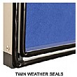 WeatherShield Freestanding Showcase Twin Seals