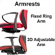 Grammer Office Solution Textile Mesh High Back Operator Chair