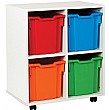 4 Tray Jumbo White Range Storage Unit