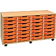 4 Storage 28 Tray Shallow Storage Unit