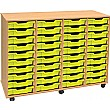 4 Store 40 Tray Shallow Storage Unit