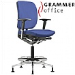 Grammer Office GLOBEline Ring Base Medium Back Fabric Reception Chair