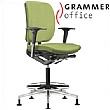 Grammer Office GLOBEline Ring Base Medium Back Textile Mesh Reception Chair