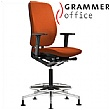 Grammer Office GLOBEline Ring Base High Back Microfibre Reception Chair
