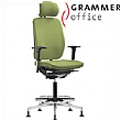 Grammer Office GLOBEline Ring Base High Back Textile Mesh Chair With Headrest