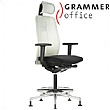 Grammer Office GLOBEline Ring Base High Back Mesh & Fabric Chair With Headrest