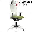 Grammer Office GLOBEline Ring Base High Back Mesh Chair With Headrest