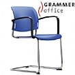 Grammer Office Passu Plastic Cantilever Side Chair