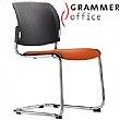 Grammer Office Passu Microfibre Upholstered Cantilever Side Chair