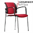 Grammer Office Passu Fabric Upholstered 4-Leg Side Chair