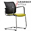 Grammer Office Passu Mesh & Fabric Upholstered Cantilever Side Chair