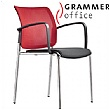 Grammer Office Passu Mesh & Fabric Upholstered 4-Leg Side Chair