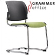 Grammer Office Passu Textile Mesh Upholstered Cantilever Side Chair