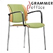 Grammer Office Passu Textile Mesh Upholstered 4-Leg Side Chair