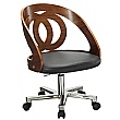 Spectrum Real Wood Veneer Office Chair Walnut