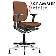 Grammer Office GLOBEline Ring Base Medium Back Leather Reception Chair