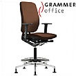 Grammer Office GLOBEline Ring Base High Back Leather Reception Chair