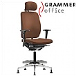 Grammer Office GLOBEline Ring Base High Back Leather Reception Chair With Headrest