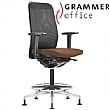 Grammer Office GLOBEline Ring Base High Back Mesh & Leather Reception Chair