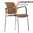 Grammer Office Passu Leather Upholstered 4-Leg Side Chair