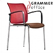 Grammer Office Passu Mesh & Leather Upholstered 4-Leg Side Chair