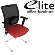 Elite Loreto Black Mesh Cantilever Meeting Chair