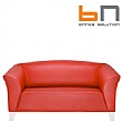 BN Status Luxury Leather 2-Seater Sofa