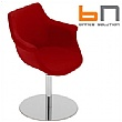 BN Kaika Fabric Swivel Disc Base Chair