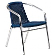 Casa Wicker Bistro Chairs Blue