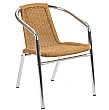 Casa Wicker Bistro Chairs Honey