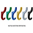 Multi-Coloured Classroom Coat Hook Rails